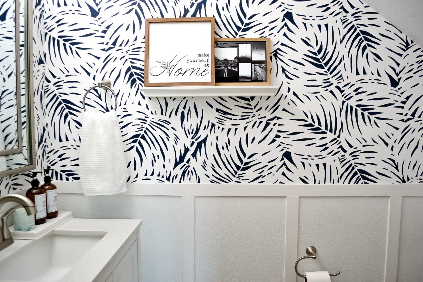 Powder room reveal one room, challenge