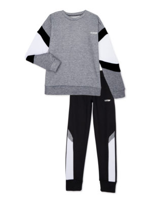 Hind Boys Crew Neck Sweatshirt and Fleece Joggers 2-Piece Active Set