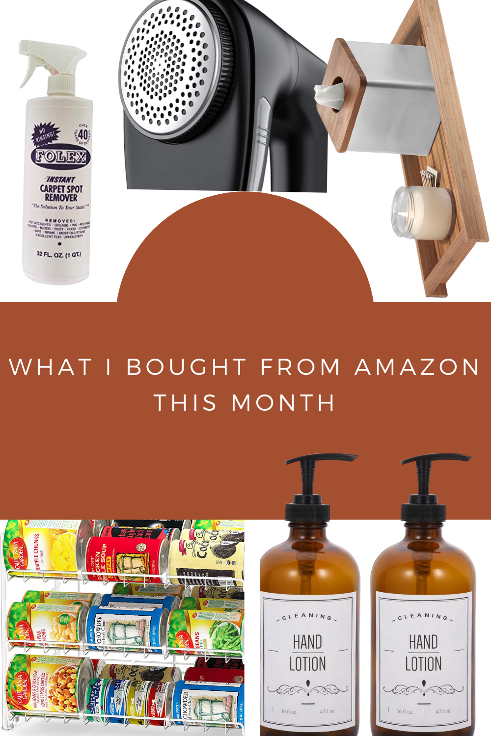 What I bought from Amazon this month