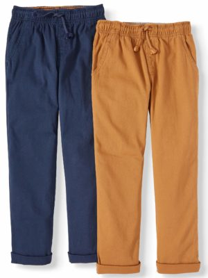 WONDER NATION BOYS PULL ON PANTS 2-PACK