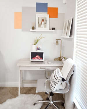 Modern Color Block Accent Wall