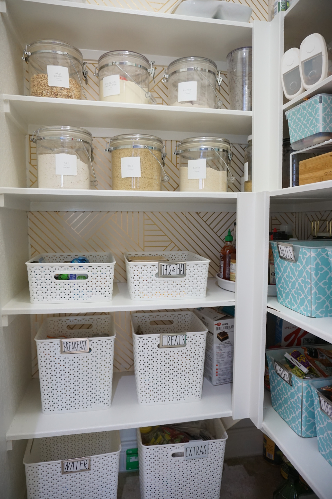 Updated Kitchen Pantry  Organization
