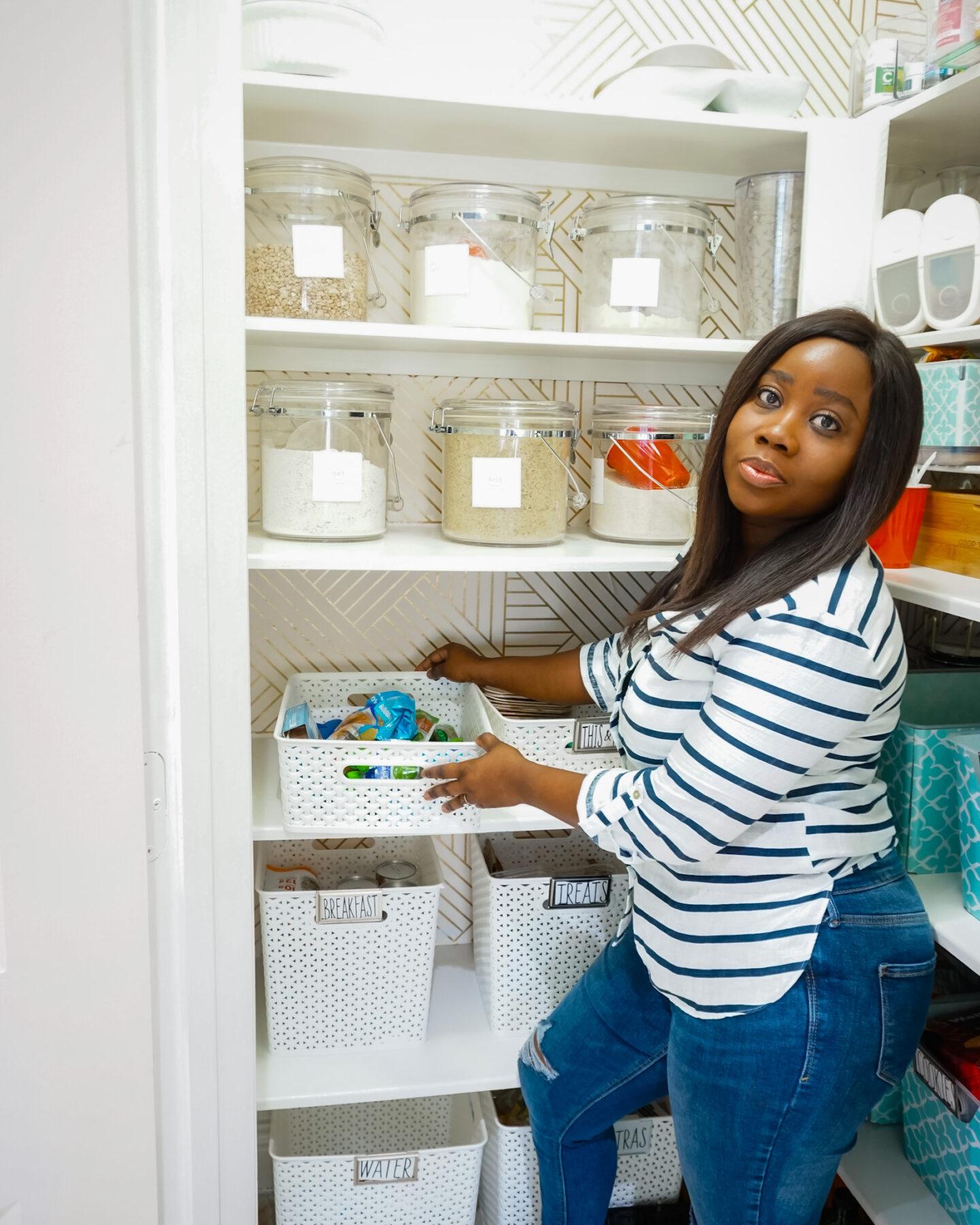 Updated Kitchen Pantry  Organization